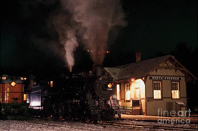North Freedom Wisconsin Steam Train Art Print by Clare VanderVeen