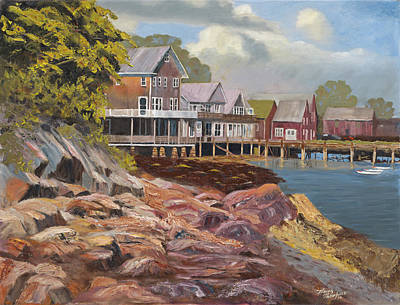 North Haven Harbor Maine Print by Tommy Thompson