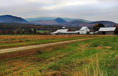 Photograph - North Haverhill Farm In Fall by Nancy Griswold