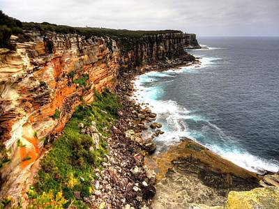 Photograph - North Head Cliffs by Peter Mooyman