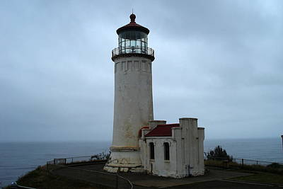 North Head Lighthouse At Cape Disappointment Art Print by Lizbeth Bostrom