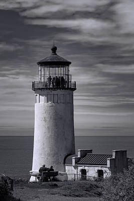 Landscape Photograph - North Head Lighthouse Bw by Joan Carroll