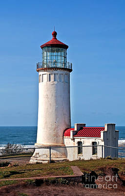 Photograph - North Head Lighthouse Off Pacific Ocean - Washington State Art Prints by Valerie Garner