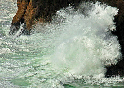 Photograph - North Head Waves I by Chuck Flewelling