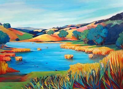 Coot Painting - North Joe Grant by Stephanie  Maclean