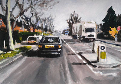 City Painting - North London Street Scene by Paul Mitchell