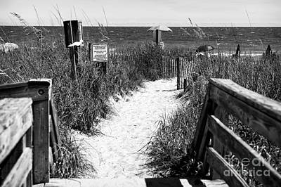 Photograph - North Myrtle Beach Entry Mono by John Rizzuto