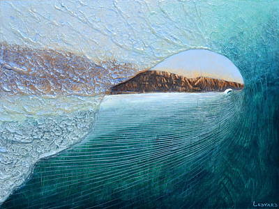 Surfing Art Painting - North Peak Barrel by Nathan Ledyard