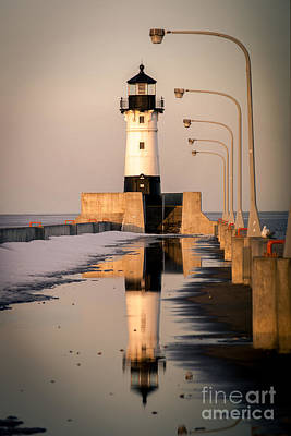Photograph - North Pier Sunset Melt by Mark David Zahn