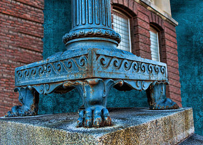 North Platte Post Office Lamp Post Art Print