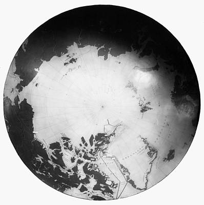Photograph - North Pole Chart by Granger