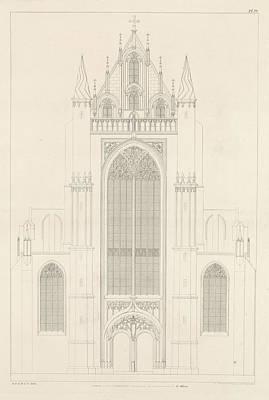 Portal Drawing - North Portal Of The Highland Church In Leiden by Artokoloro