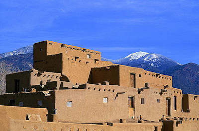 Taos New Mexico Photograph - North Pueblo Taos Two by Buddy Mays