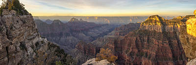 Photograph - North Rim Sunrise Panorama 2 - Grand Canyon National Park - Arizona by Brian Harig