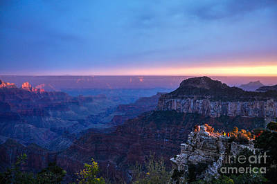 Photograph - North Rim Sunset by Cheryl McClure