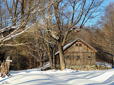 Photograph - North Road Barn Newbury Vermont by Nancy Griswold