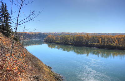 Photograph - North Saskatchewan River - Autumn by Jim Sauchyn