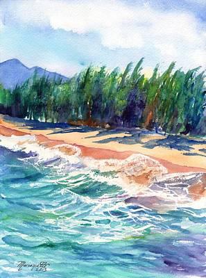 North Shore Beach 2 Art Print by Marionette Taboniar