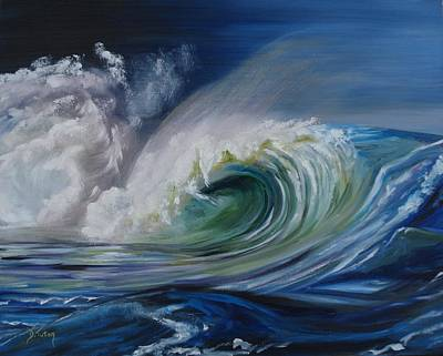 North Sea Painting - North Shore Curl by Donna Tuten