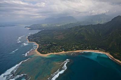 Photograph - North Shore Kauai Aerial by Steven Lapkin