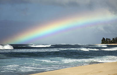 Photograph - North Shore Oahu Rainbow by Vince Cavataio - Printscapes
