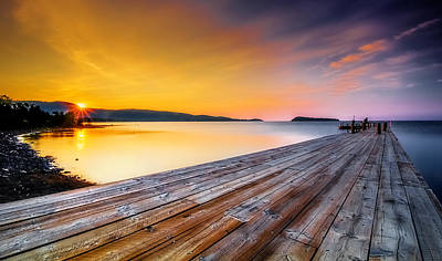 Art Print featuring the photograph North Shore Sunrise Grand Portage Mn by RC Pics