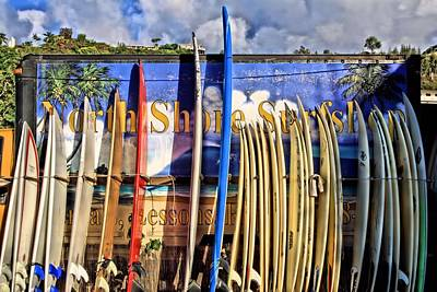 North Shore Surf Shop Art Print