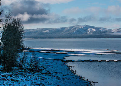 Art Print featuring the photograph North Shore Winter Blues by Jan Davies