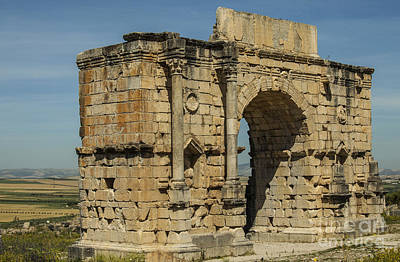 A White Christmas Cityscape - North side of the Arch of Caracalla at Volubilis by Patricia Hofmeester