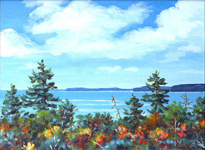 Painting - North Sky Sketch by Richard De Wolfe