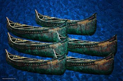 Vessel Photograph - North Star Birch Bark Canoe by LeeAnn McLaneGoetz McLaneGoetzStudioLLCcom