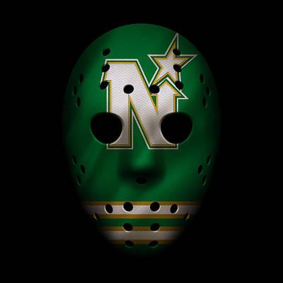 North Stars Jersey Mask Art Print by Joe Hamilton