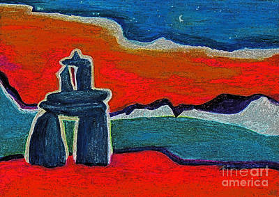 Painting - North Story Inukshuk By Jrr by First Star Art