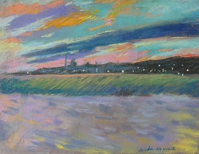 Painting - North Truro Sunset by Linda Novick