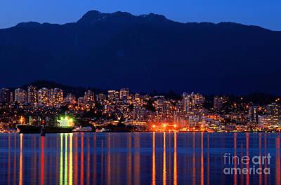 North Vancouver At Dusk Art Print by Terry Elniski