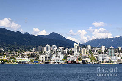 Photograph - North Vancouver Lonsdale Skyline by Charline Xia
