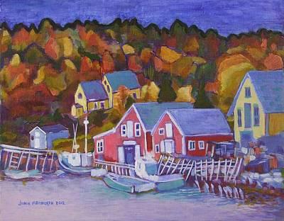 North-west Cove Art Print by Janet Ashworth