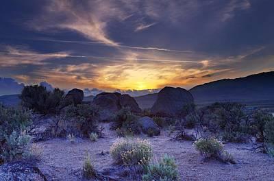 Photograph - North West Palomino Valley Nv Sunset by SB Sullivan