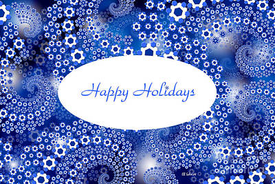Digital Art - North Wind Holiday Card by E B Schmidt