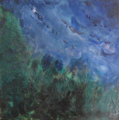 Wall Art - Painting - North Woods by Jen Siegrist