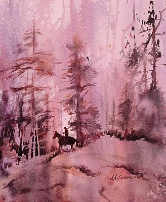 Art Print featuring the painting North Woods by John  Svenson