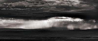 North Wyoming Thunder Shower Art Print by Leland D Howard