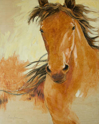Horse Drawings Painting - Northbound by Tracie Thompson