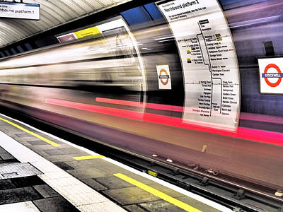 The Tube Wall Art - Photograph - Northbound Underground by Rona Black