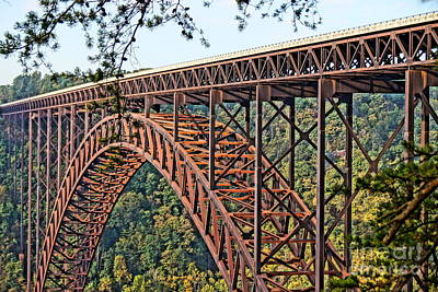 Northeast Close-up Of New River Gorge Bridge Art Print by Timothy Connard