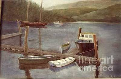 Northeast Harbor Maine Original by Fred Jinkins