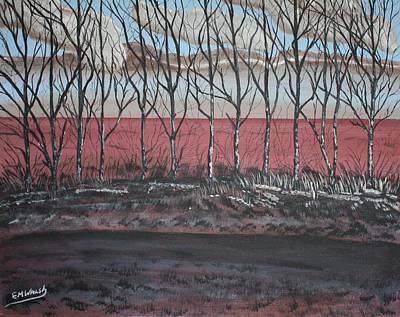 Etc. Painting - Northern Aspens by Edward Walsh