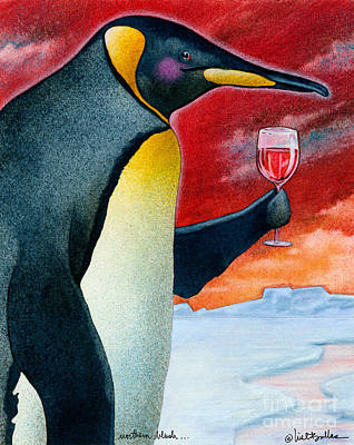 Penguin Painting - Northern Blush... by Will Bullas