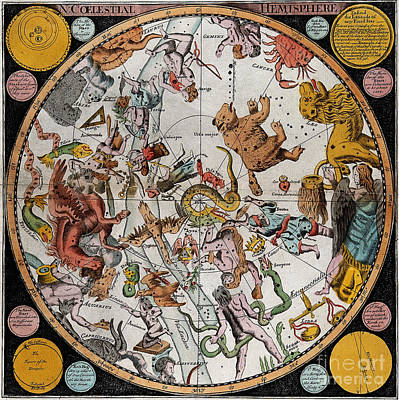 Photograph - Northern Celestial Planisphere 1790 by Wellcome Images