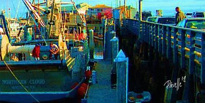Digital Art - Northern Cloud - Monterey Boat Harbor by Jim Pavelle